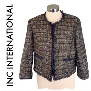 👑 INC INTERNATIONAL TWEED BLAZER SIZE LARGE